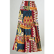 Ikat Print Skirt