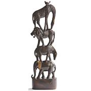 Stacked Safari Animal Figurine