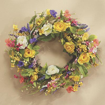 Springtime Blooms Wreath