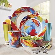 Color Swirl Dinnerware Set