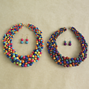 Multicolored/Necklace/Earring Set