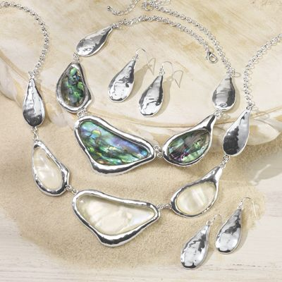 Shell Freeform Necklace/Earring Set