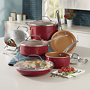 Red Copper Cookware Set – As Seen On TV