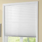 vinyl room darkening pleated shade