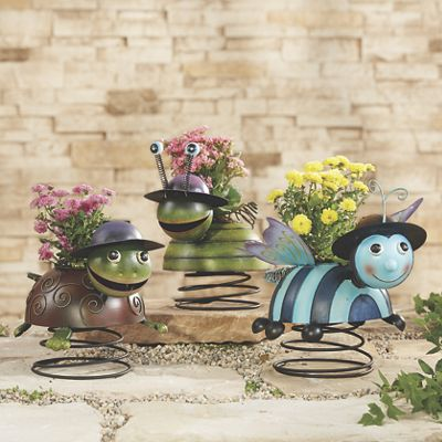 Solar Lighted Turtle, Snail and Bee