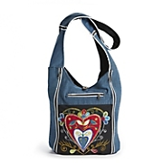 heart denim bag