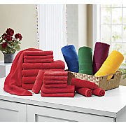 18 pc  color burst towel set