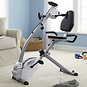 recumbent bike with upper body exerciser by stamina