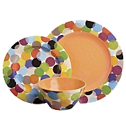 Party Circles Melamine Dinnerware Set by Laurie Gates