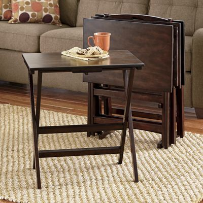 5-Piece TV Tray Table Set : table tray set - Pezcame.Com