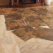 Set of 10 Self-Stick Floor Tiles
