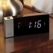 digital dual alarm projection clock radio by jensen