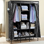 Polka Dot Curtain Storage Closet