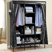 polka dot curtain storage closet