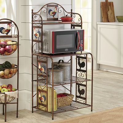 Rooster Microwave Stand From Seventh Avenue Dt757165
