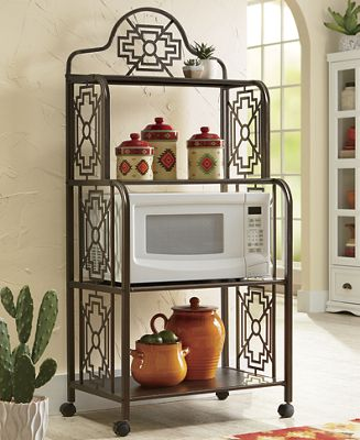 Southwestern Microwave Cart