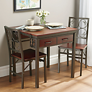 dining table   folding chairs