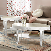ivory rose end table
