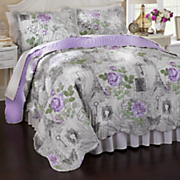 souvenir floral quilt and sham