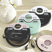 retro joggable personal cd player with fm radio by studebaker