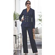 powerful pinstripe pantsuit