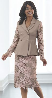 Sasha Lace Skirt Suit