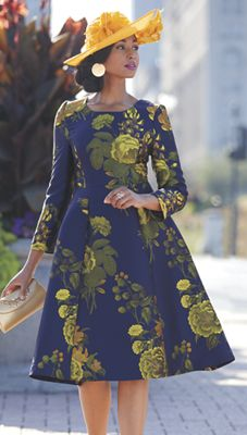 Robin Dress & Jack McConnell Floral Couture Hat