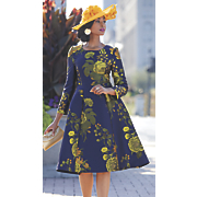 Robin Dress and Jack McConnell Floral Couture Hat
