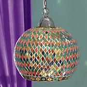rainbow mosaic pendant lamp