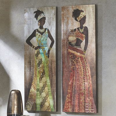 Set of 2 African Ladies Prints