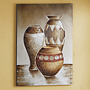 hand painted vases canvas print