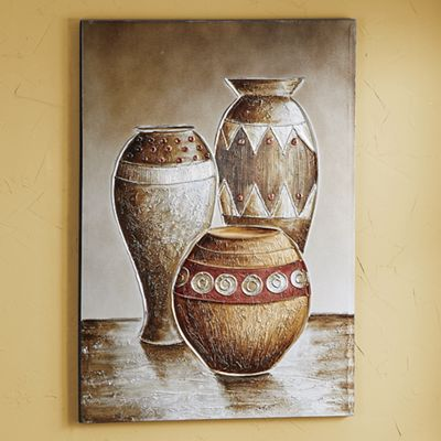 Hand-Painted Vases Canvas Print