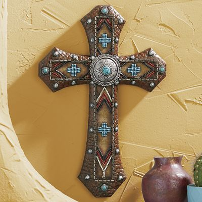 Beaded and Studded Southwest Cross