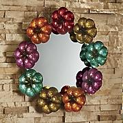 Round Flower Frame Mirror