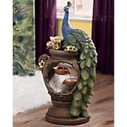 Lit Peacock Fountain