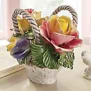 ceramic flower basket