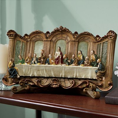 Last Supper Plaque with Stand