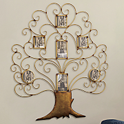 7 slot tree photo frame