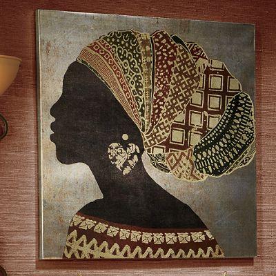 Embellished African Lady Portrait
