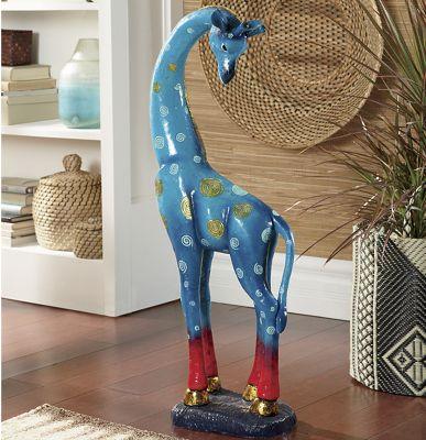 Blue Giraffe Figurine