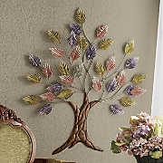 Colorful Metal Tree Wall Décor
