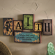 faith wall plaque