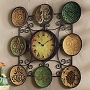 Metal Plate Wall Clock