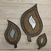 Hand-Carved Rashiki Mirror Set