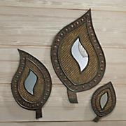 3 pc  hand carved rashiki mirror set