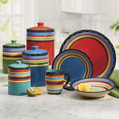 Fiesta Stripe Dinnerware Set