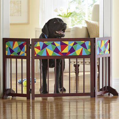 Colored Glass-Look Pet Gate