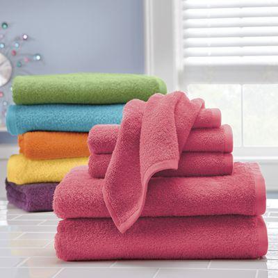 6-Piece Colorful Living Towel Set