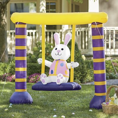 Bunny-On-A-Swing Inflatable