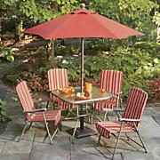 6 pc  folding patio set